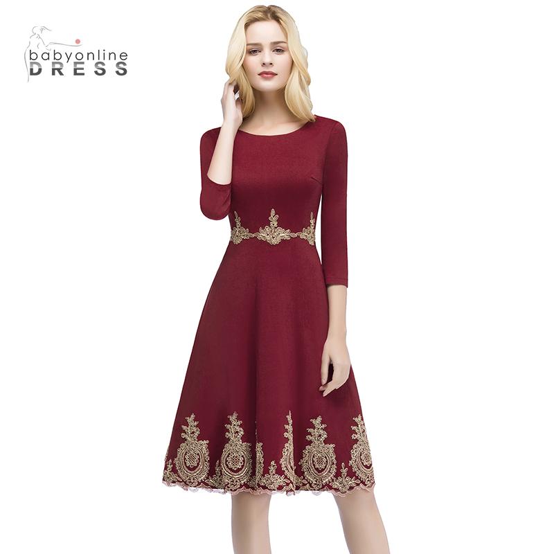 Платья выпускного вечера 2018 выпускного вечера малыш платье Красное вино США 4 Великобритания 8 ЕС 34 фото