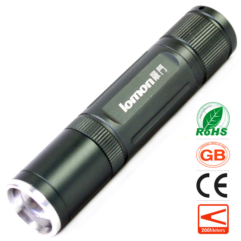 lomon Серый 50m white purple yellow light led flashlight stainless steel torch 18650 rechargeable uv torch olight jade identification page 2