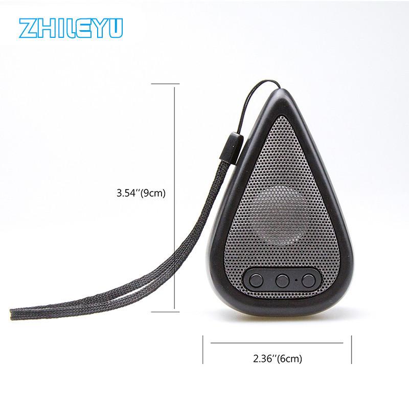 zhileyu Black ufo shape portable mini rechargeable bluetooth v2 1 speaker black orange