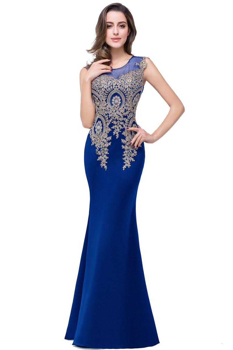 Платье выпускного вечера без рукавов малыш платье Королевский синий США 12  Великобритания 16  ЕС 42 фото