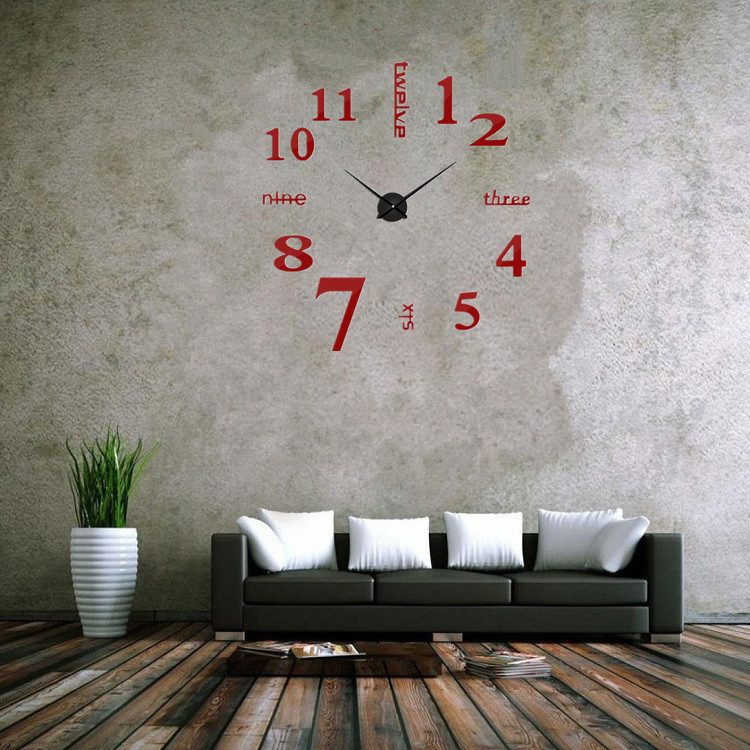 suwumu Красный цвет настенные часы русалочка