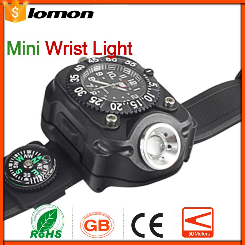lomon Черный 50m-100m mini led flashlight long range keychain keyring best gift present waterproof handy pocket torchlight aluminum alloy lamp