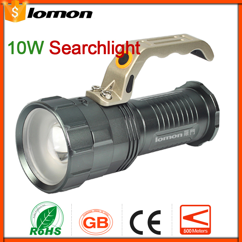 lomon Серый 200m-500m led portable floodlight 20w rechargeable spotlight lithium ion battery outdoor emergency camping fishing night work ip65 dynasty