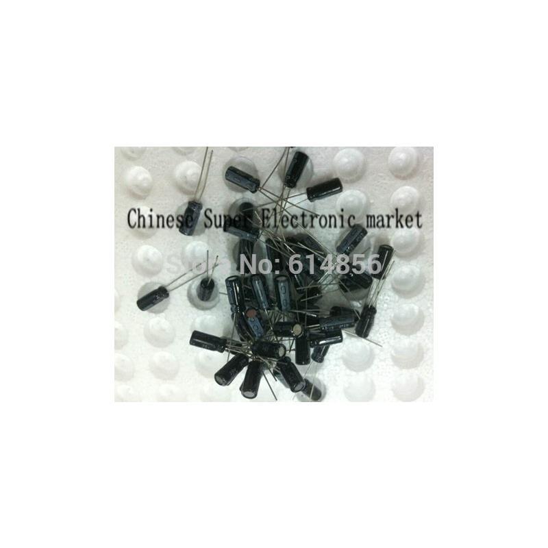 IC 100pcs 50v 47uf 6 12 6x12mm 47uf dip aluminum electrolytic capacitors