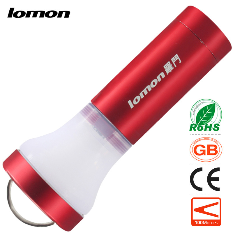 lomon Красный 50m-100m mini led flashlight camping portable light 18650 rechargeable handy torch cycling bicycle fishing emergency torchlight