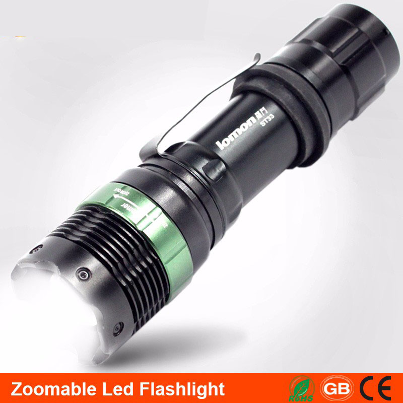 lomon Черный 200m-500m super bright tactical liaght 32000lm 24x xml t6 led flashlight torch waterproof camping hunting light only torch no battery