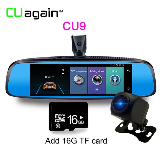 Карта памяти CU9 16G 1080p relaxgo 5 android touch car dvr gps navigation rearview mirror car camera dual lens wifi dash cam full hd 1080p video recorder