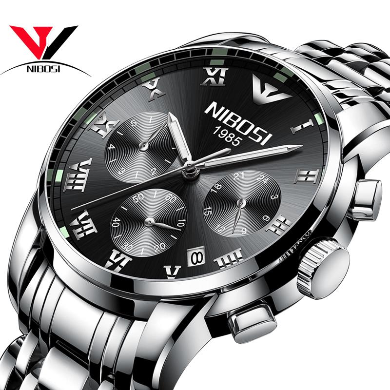 NIBOSI черный shensee ® gofuly 2015 новый 4 стили роскошь моды крокодил лже кожа мужчин аналоговые часы кварцевые часы специально для мужчин