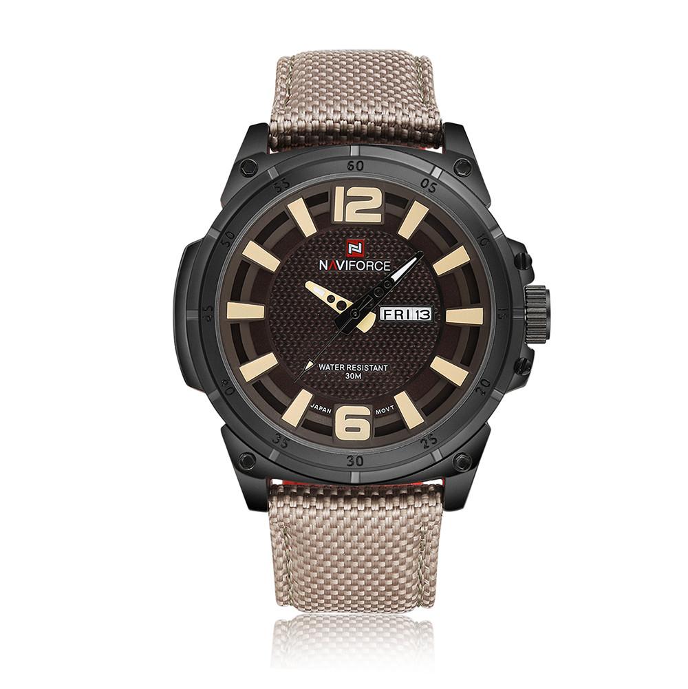 NAVIFORCE Yellow 2017 мужские часы известные лучшие роскошные бренды кварцевые часы мужские наручные часы мужской наручные часы