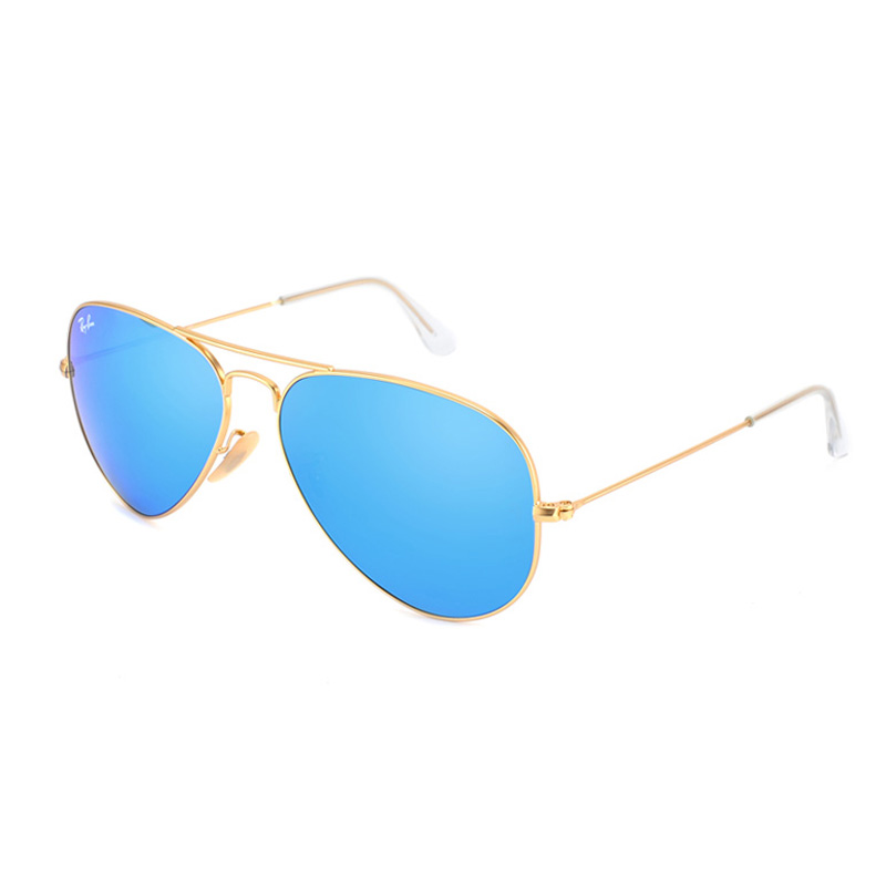 BangLong Серебряная рамка Синяя пленка очки rayban