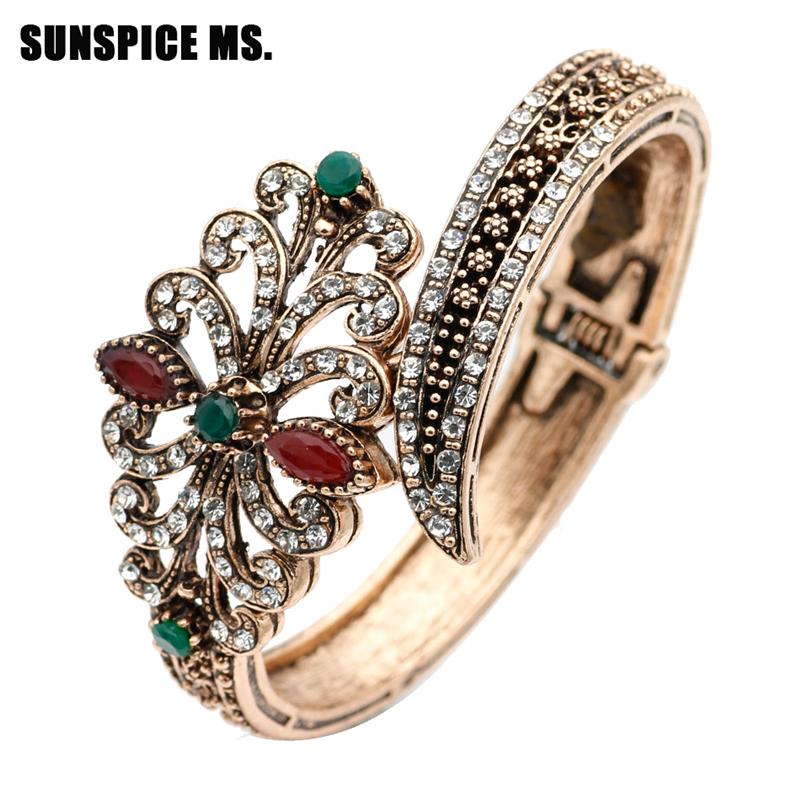SUNSPICE MS Зеленый мода ювелирные изделия медь мужчины и женщины любовь браслеты браслеты гвозди манжеты браслеты ювелирные изделия