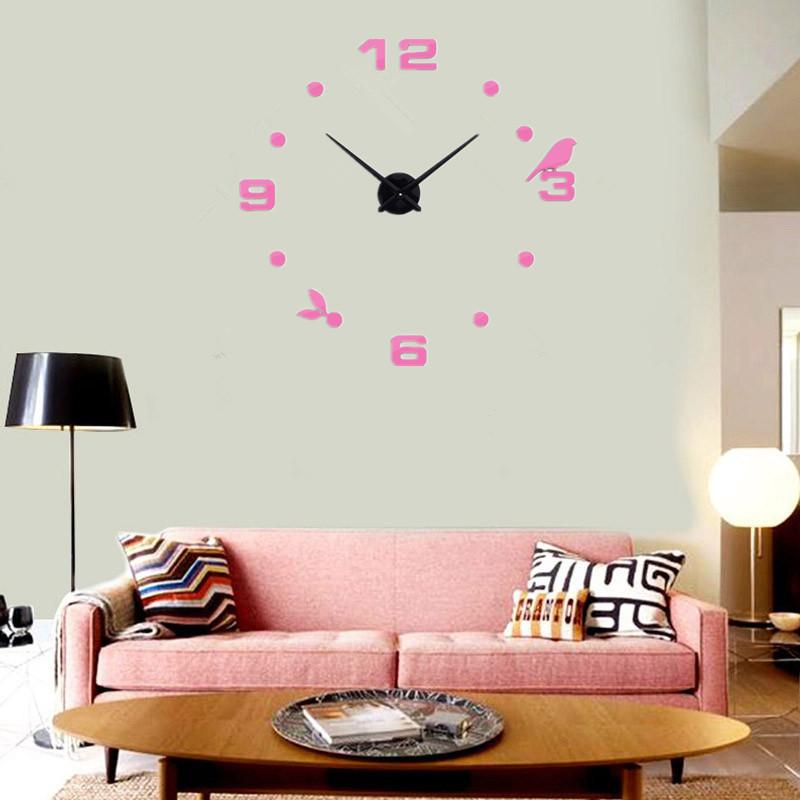 suwumu Розовый цвет настенные часы oem diy 3d relogio cozinha