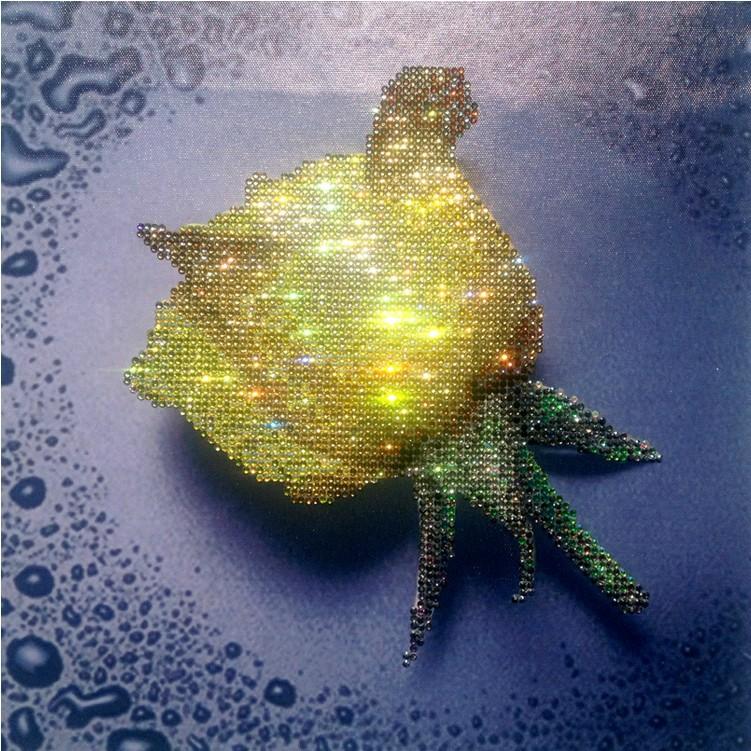 HelloYoung Жёлтый цвет алмазная вышивка леди роза 30x40см