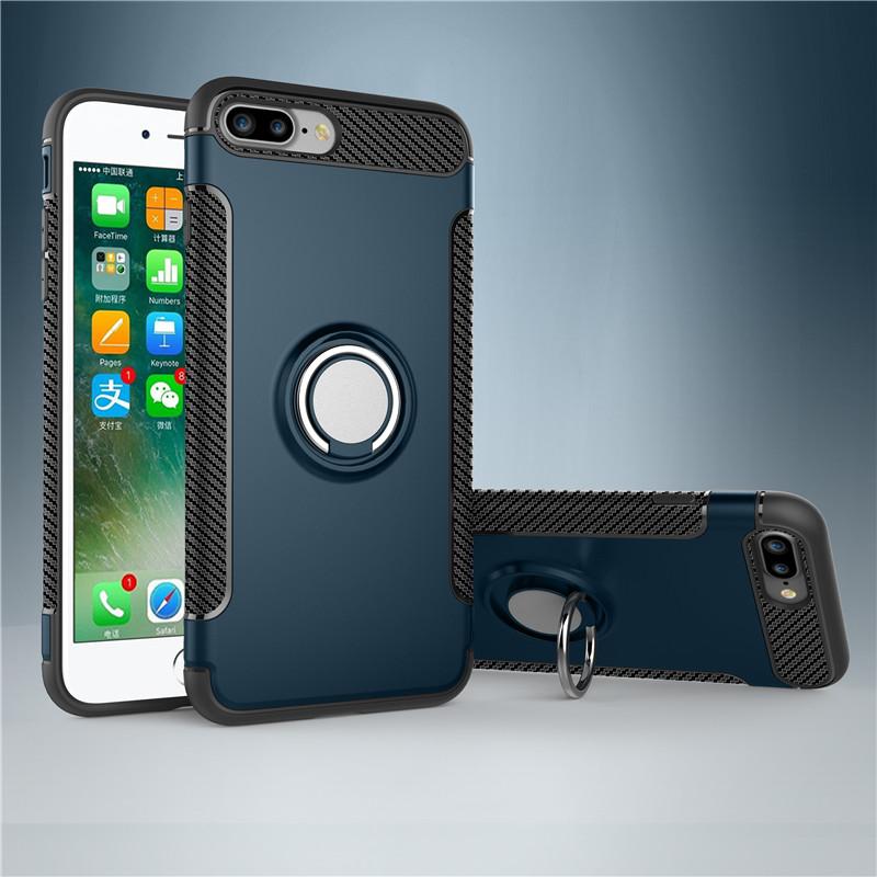 goowiiz синие iphone 7 Plus rock royce series kickstand pc tpu hybrid case for iphone 7 plus black