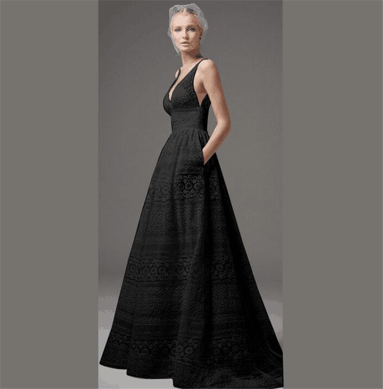 Nulibenna Черный 4XL женское платье j31