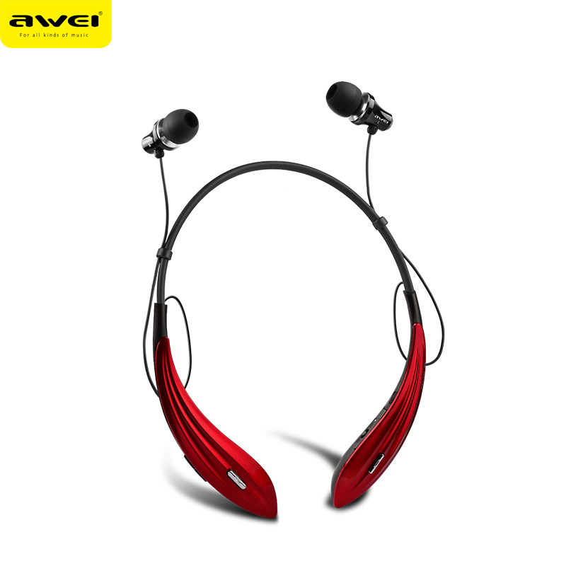 AWEI красный беспроводные наушники monster isport freedom wireless bluetooth on ear green