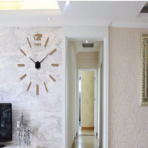 suwumu Коричневый цвет настенные часы oem diy 3d relogio cozinha