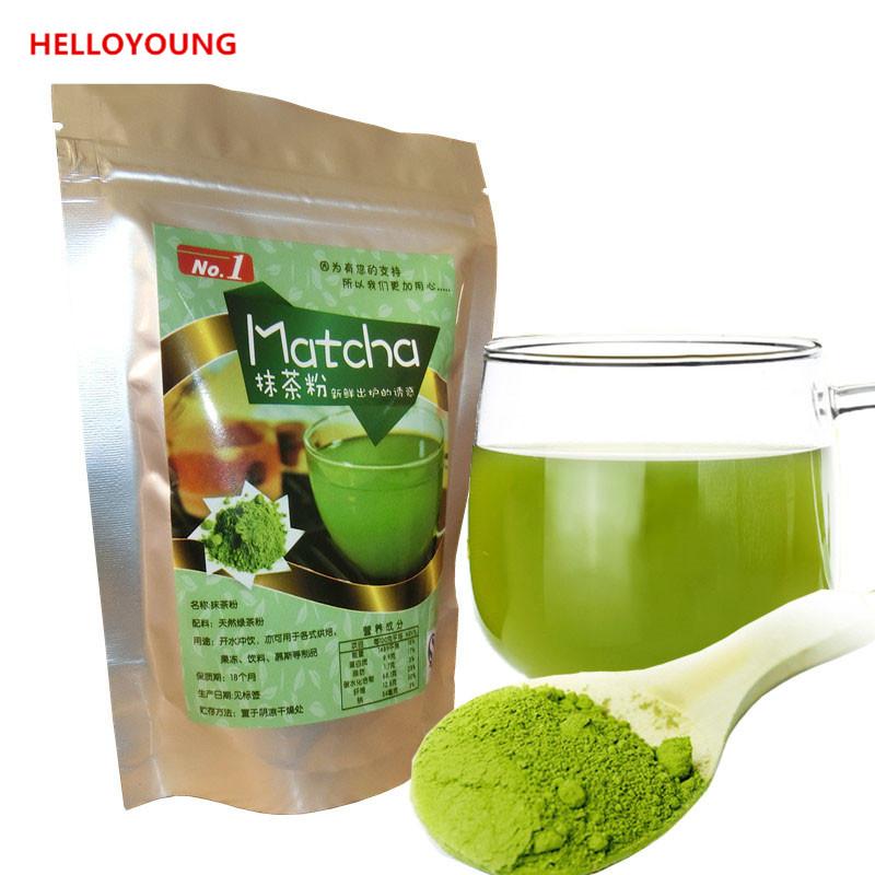 C-TS042 Продажа 80g Natural Organic Matcha Зеленый чай порошок для похудения чай вес HelloYoung фото