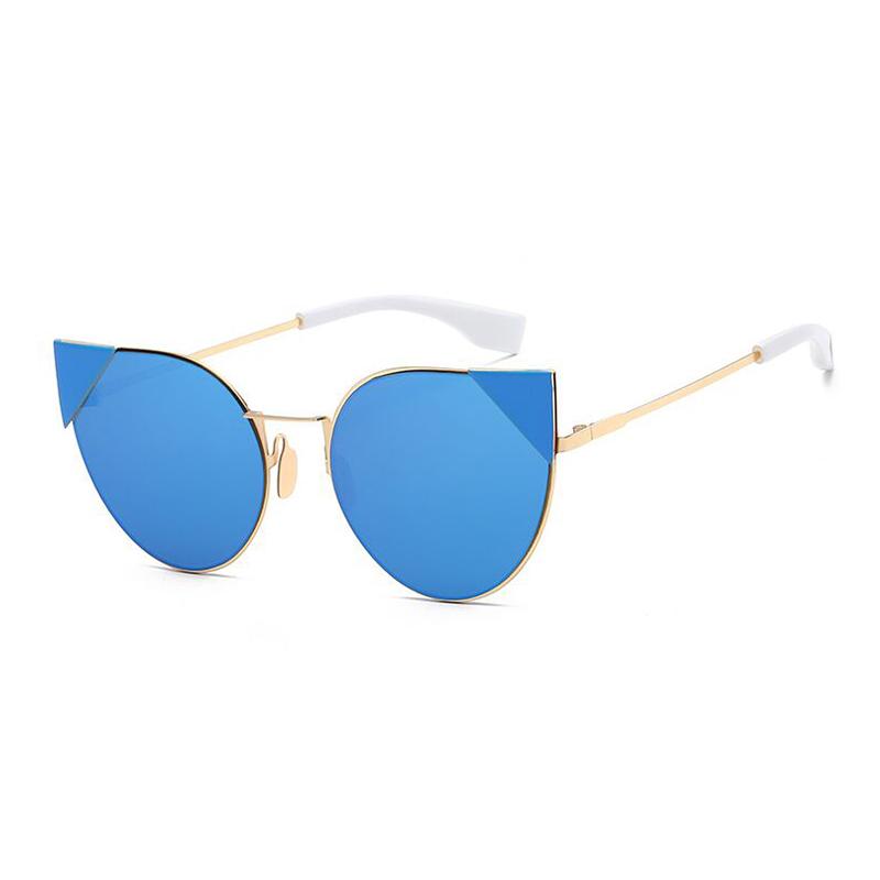 Sisjuly синий Кошачий глаз 2016 women metal frame sexy cat eye sunglasses coating vintage sun glasses female oculos de grau femininos uv400
