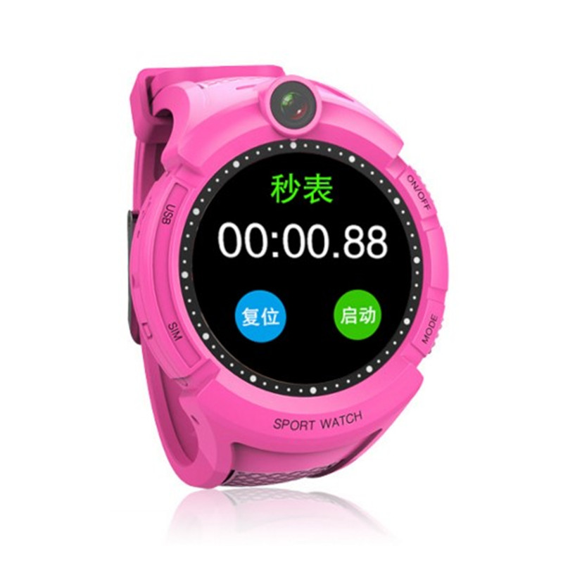 feizhouying красный 38 мм ds18 waterproof smart baby watch gps tracker for kids 2016 wifi sos anti lost location finder smartwatch for ios android pk q50