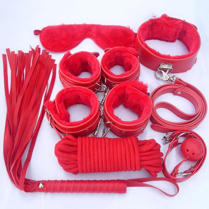 Red Бесплатный размер мягкий хлопок бондаж веревка 10м 35ft кудрявый sm фетиш секс игрушки 470018