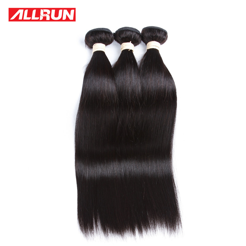 ALLRUN 28 28 28 moko hair 7a grade brazilian virgin hair straight human hair weaving bundles 8 28 unprocessed straight virgin hair 4 bundles
