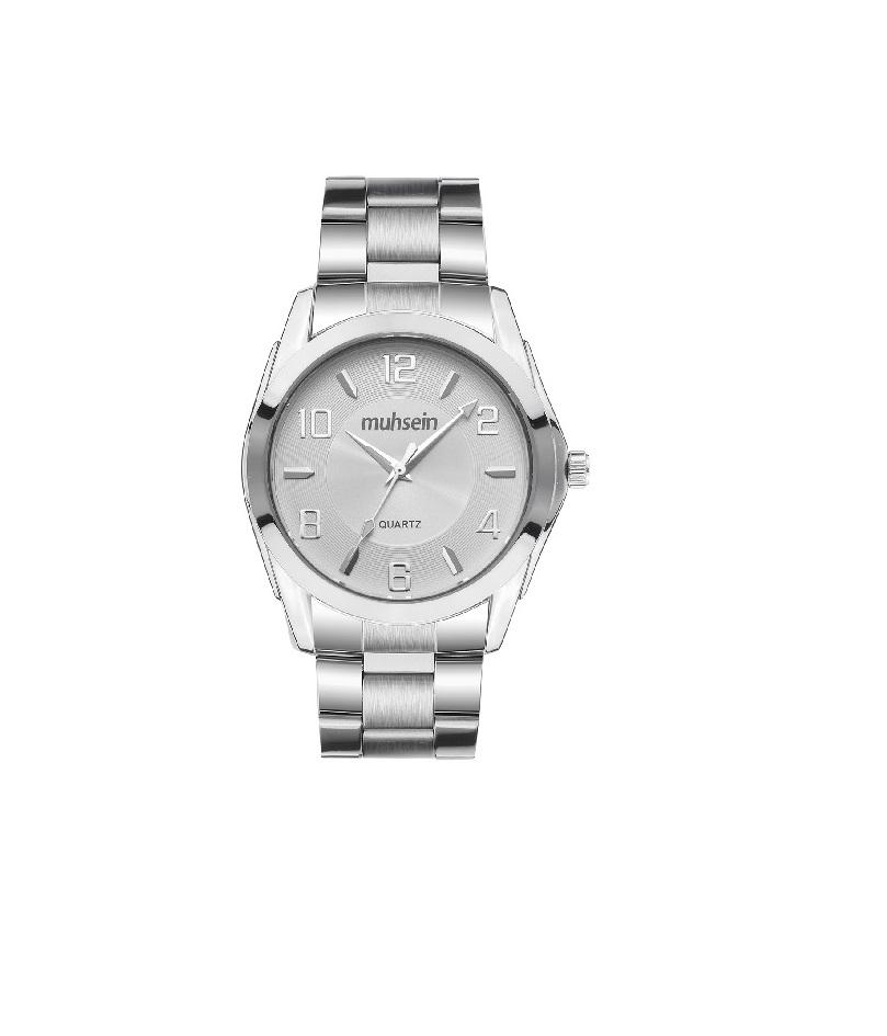 Роскошные классические черные часы из нержавеющей стали Бизнес Повседневные suwumu Белый диск стальная лента мужские часы фото