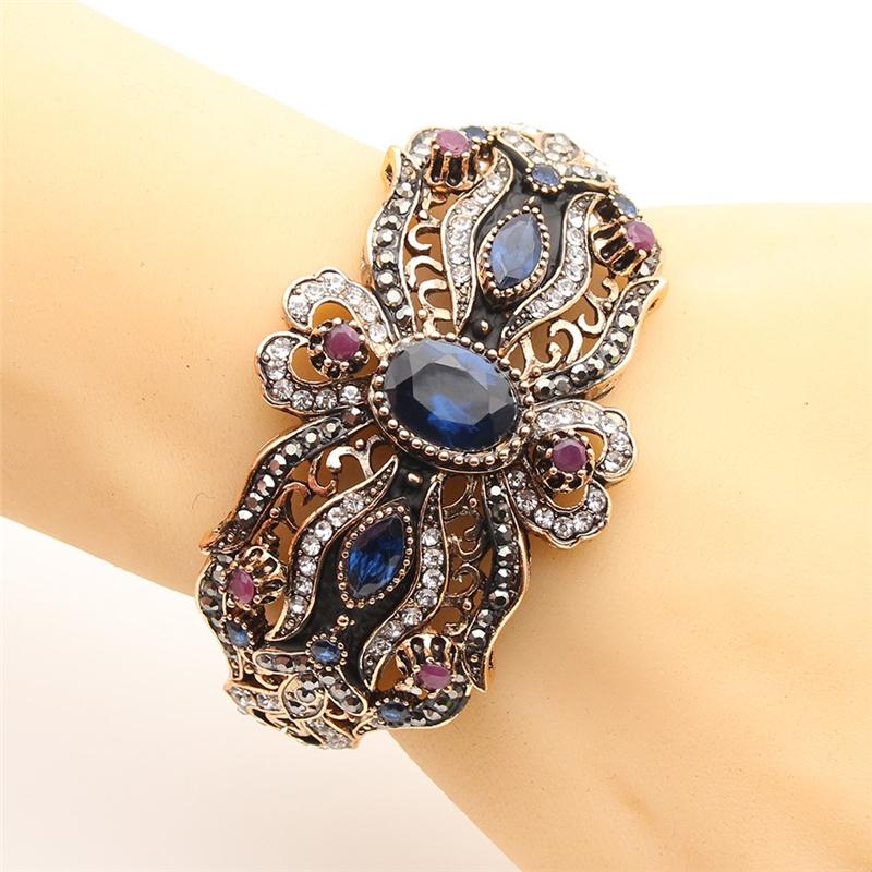 SUNSPICE MS Blue дизайн панков турецкий браслеты для глаз для мужчин женщины новая мода браслет женский сова кожаный браслет камень
