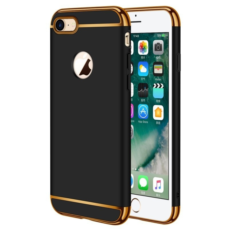 KYKEO Черный iphone 7 nxe embossed opera make ups leather pc tpu cover with built in iron sheet for iphone 7 yellowgreen