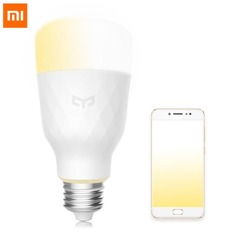 Mi белый E27 mi yeelight интеллектуальная лампа 9w e27 винтовая основа энергосберегающее беспроводное управление wifi