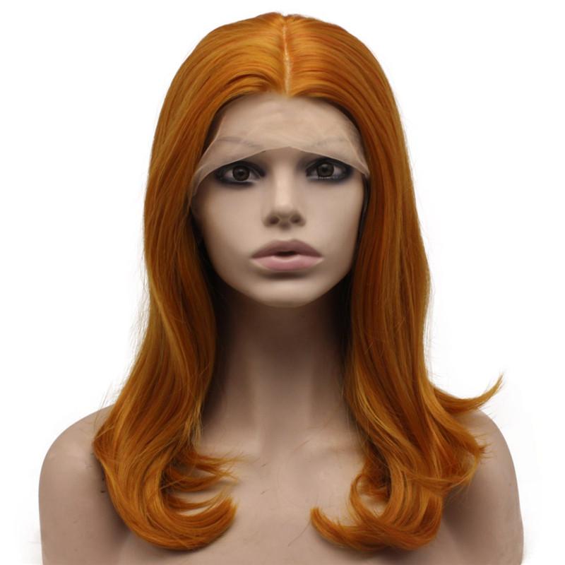 reddish blonde wig synthetic