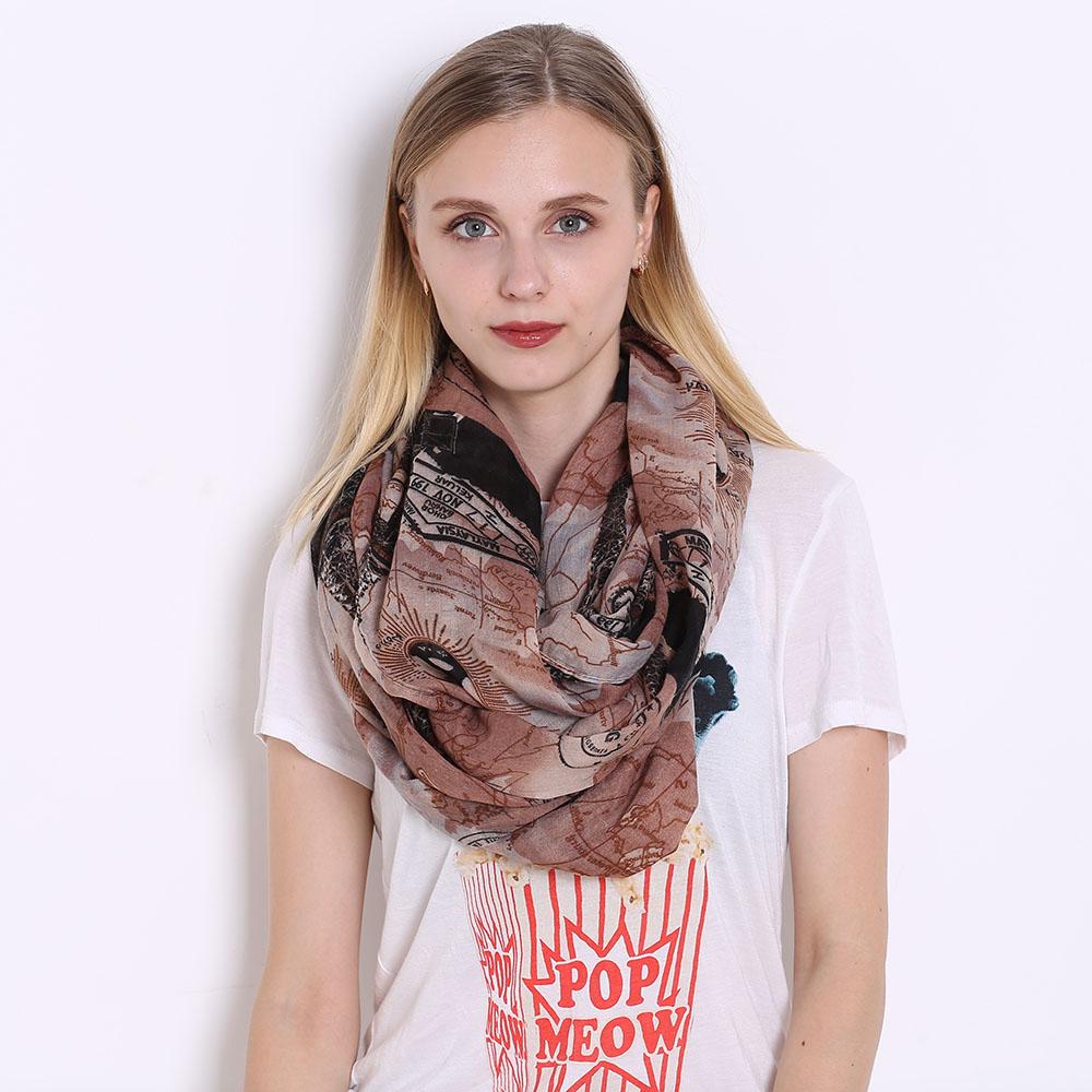 JeouLy Темно коричневый 175см шарфы verga шарфы