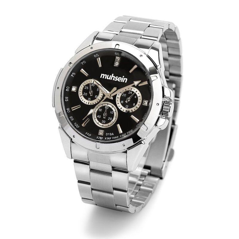 suwumu Черный диск стальная лента женские часы часы я zhuolun мужские часы 2017 новый простой корейский моды большой набор новый yzl0558th 2