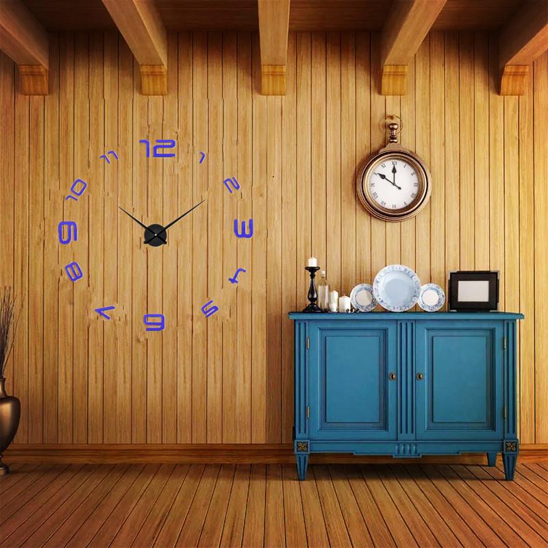 suwumu Синий цвет настенные часы oem diy 3d relogio cozinha