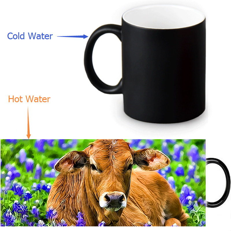 HUOSOOYUN 4 рисованные креативные кружки для кофе чашка для чая чашка для завтрака керамическая чашка для молока комплект из 4