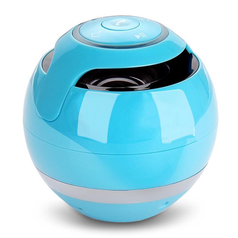Sky Blue mini cylinder shaped bluetooth v2 0 speaker w fm tf mini usb usb blue black transparent