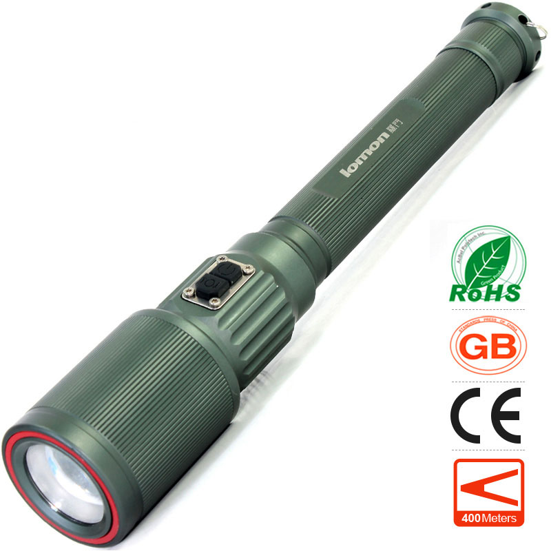 lomon Серый brinyte s48 high power 1500 lumens 5 cree xr e q5 led police security flashlight military torch light with remote switch 18650