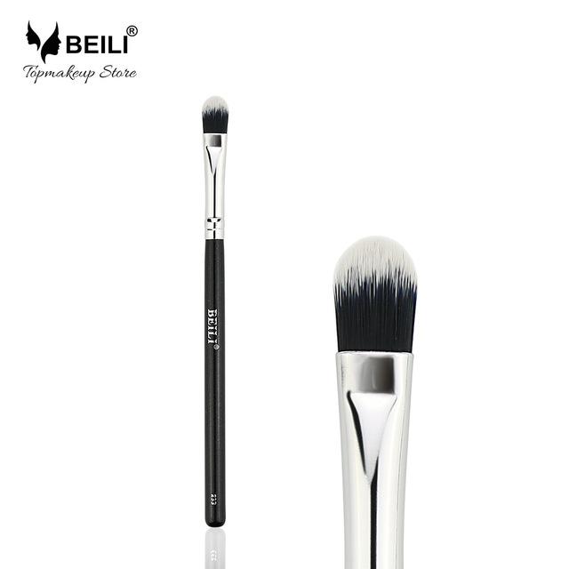 Sisjuly beili single 104 flat kabuki single synthetic hair face для умывальника румяна черная макияжная кисть