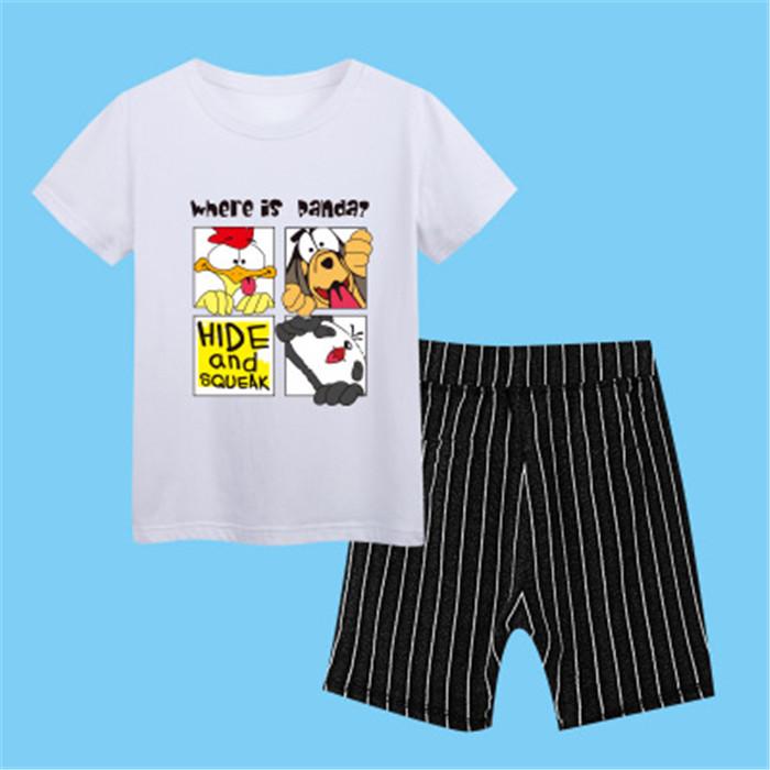 Red 100 children s garment 2017 pattern summer children s garment children cowboy suit baby cowboy salopettes stripe pure cotton