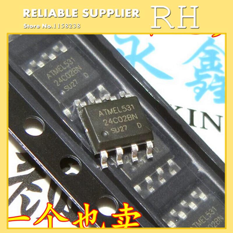 IC 100pcs lot 24c01 at24c01n at24c01bn sh t sop8 memory serial eeprom
