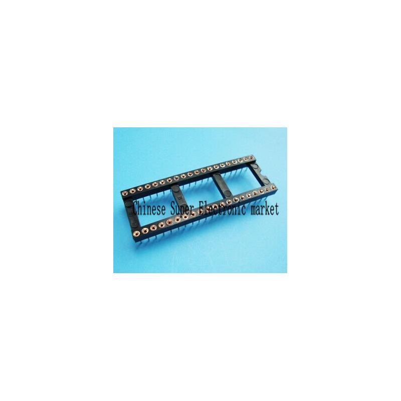 IC 10pcs dip 40 round ic socket 40 pin 40pin 40p round hole dip ic sockets adaptor solder type gold plated inner