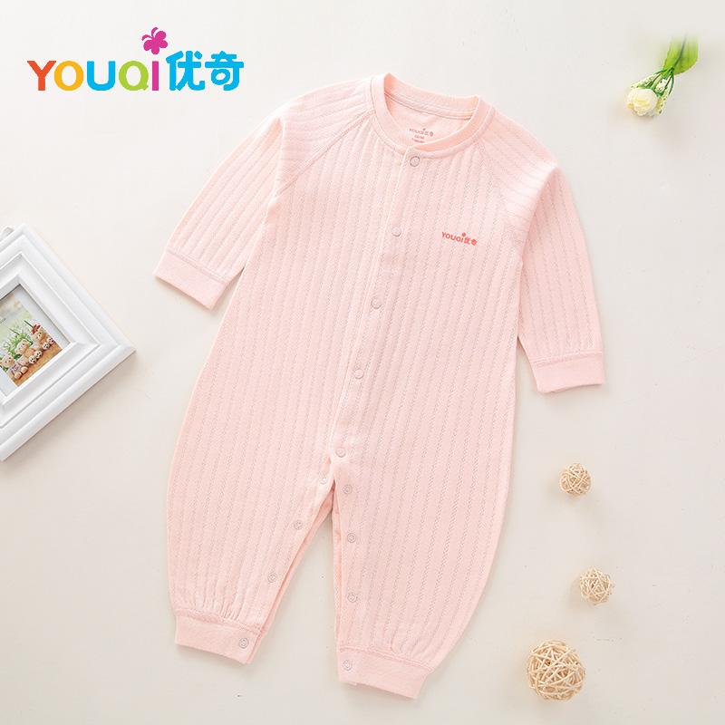 Розовый цвет 6-9 Months lovely striped rompers для baby cotton baby girl одежда мальчик костюм для пижамы 1 3 6 9 месяцев с длинным рукавом весна осень