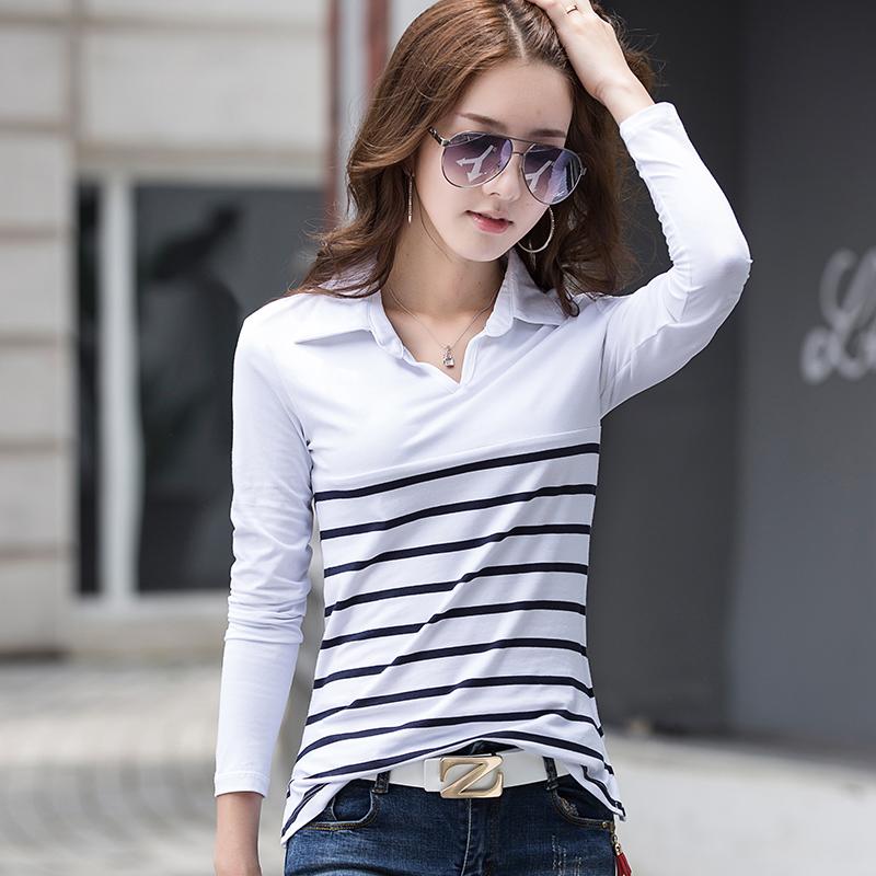 qianmeigui Белый Номер XL йемен весна и осень рубашка женская рубашка шифон круглый воротник рубашки 8510110638 белый xl