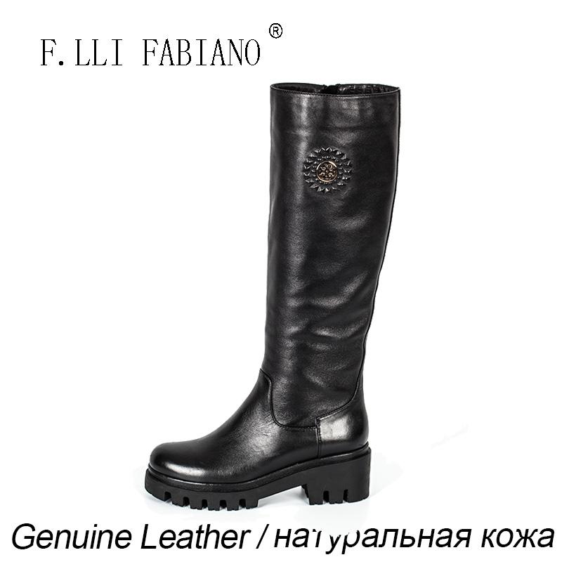 Кожаные сапоги кожаные ботинки FLLI FABIANO фото