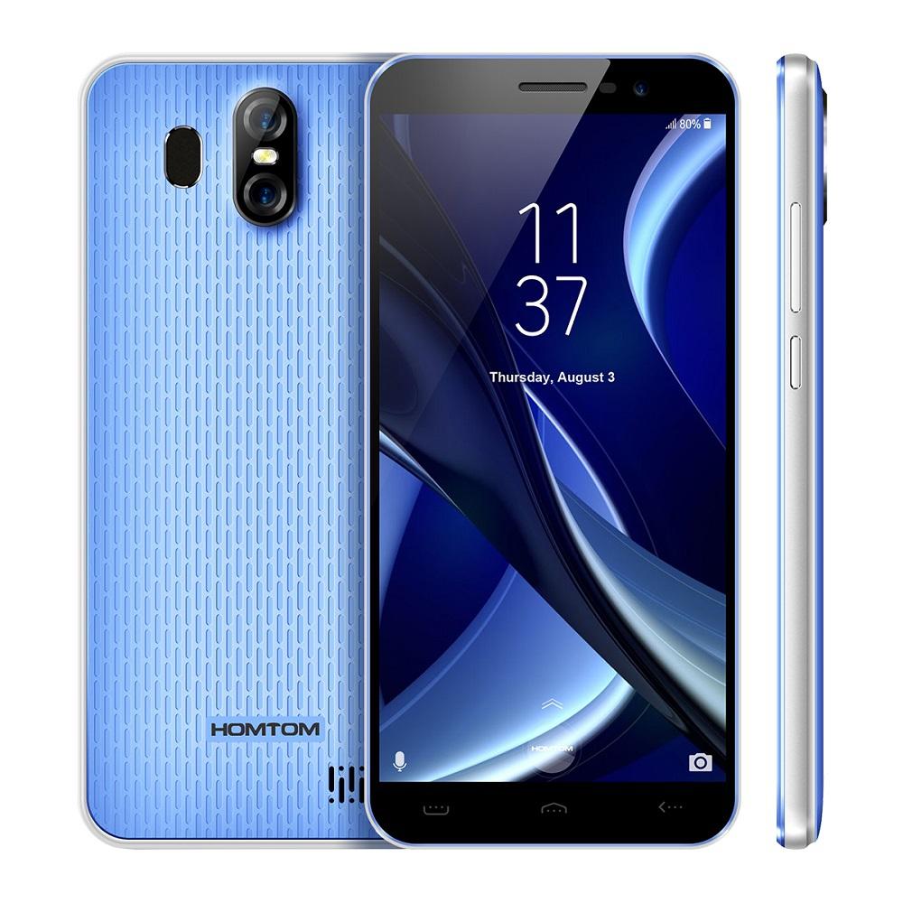 HOMTOM Синий цвет Евровилка смартфон