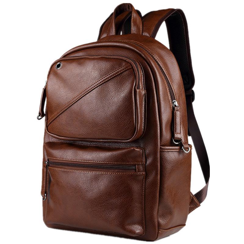 ETONWEAG коричневый новые мужские кожаные рюкзаки мягкие рюкзаки бизнес daypack рюкзак сумки