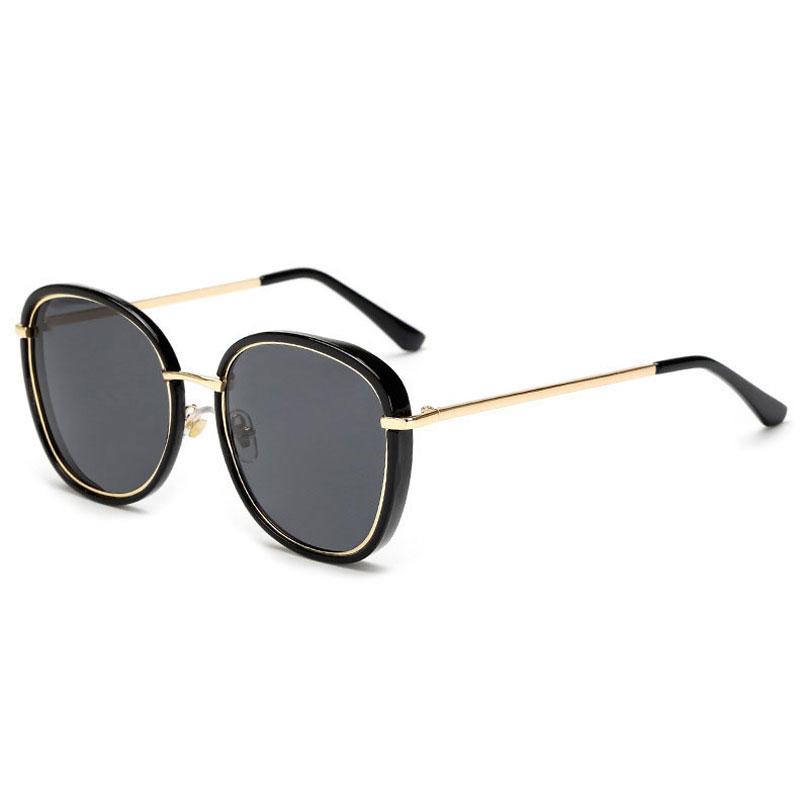 LIKEU S NO1 Black &amp Модные солнцезащитные очки Солнцезащитные очки Oversiz