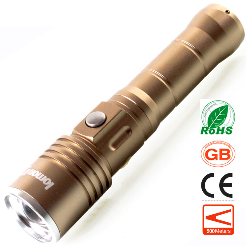 lomon Песочно-коричневый 200m-500m wuben led flashlight tactical torch 18650 battery usb rechargeable lights waterproof led lamp cree portable camping lantern l50