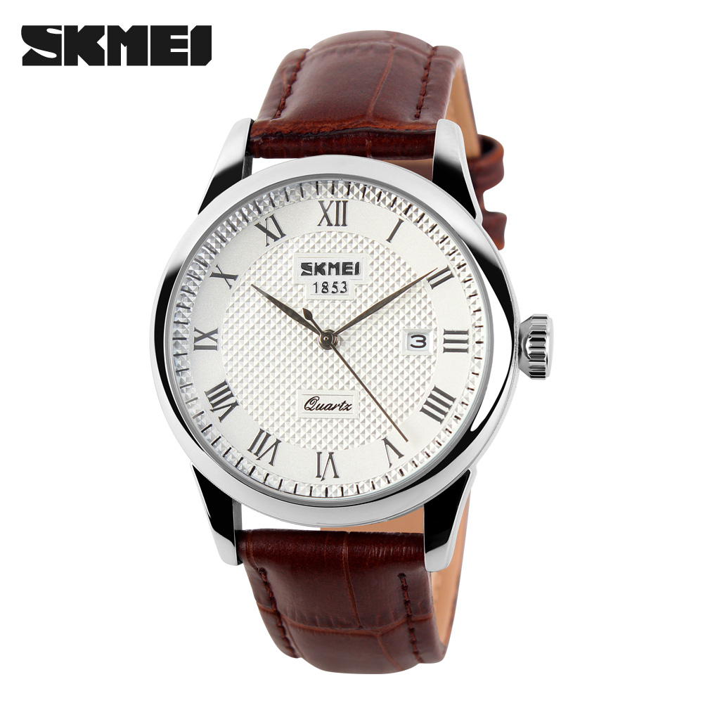 SKMEI СеребристыйКоричневый часы skmei мужские 1155