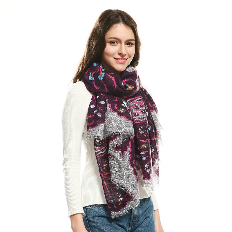 JeouLy Фиолетовый 175см woolly boolly шарф